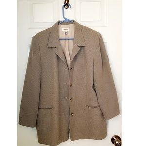 Talbots Plus Size Brown Blazer